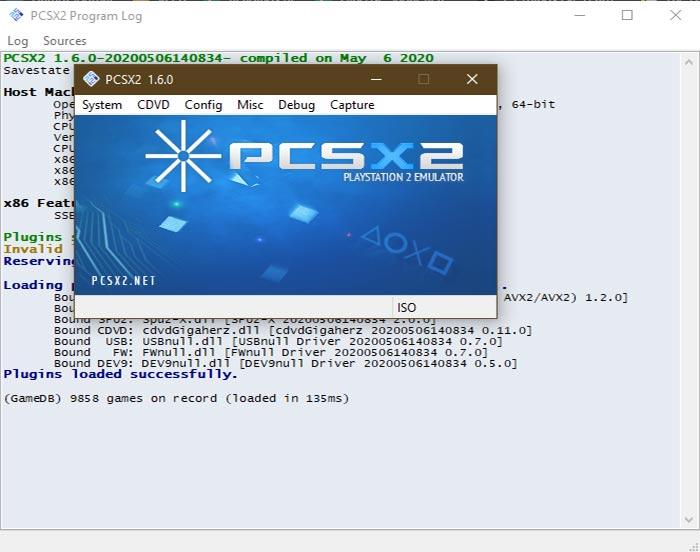 pCSX2 ps2 emulator