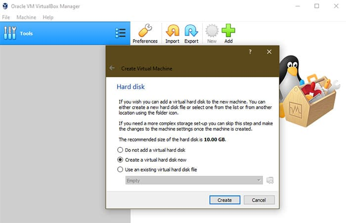 Windows XP emulator installing