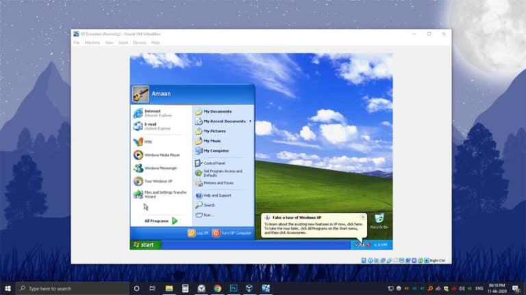 Windows XP emulator