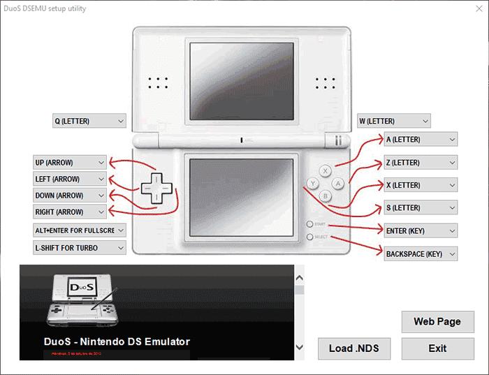 DuoS DS emulator PC