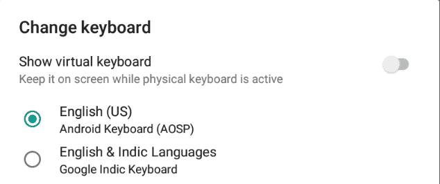 Select Google Indic Keyboard