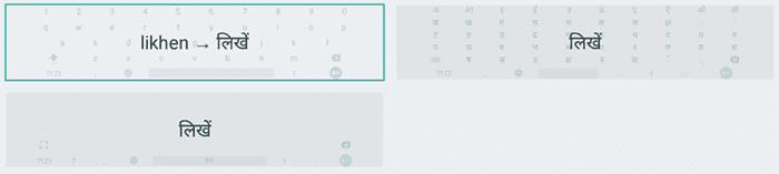 indic keyboard modes