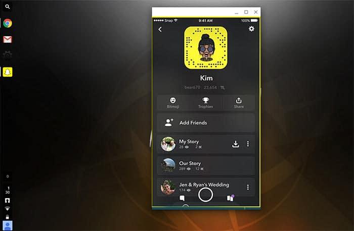 Snapchat on ChromeOS