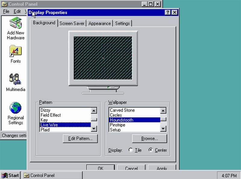 Windwos 9 on PCjs emulator
