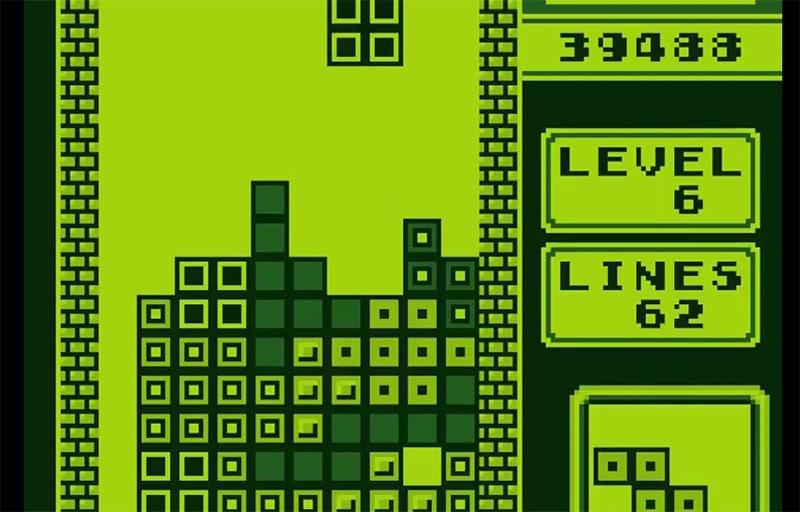 Tetris on Game boy Color